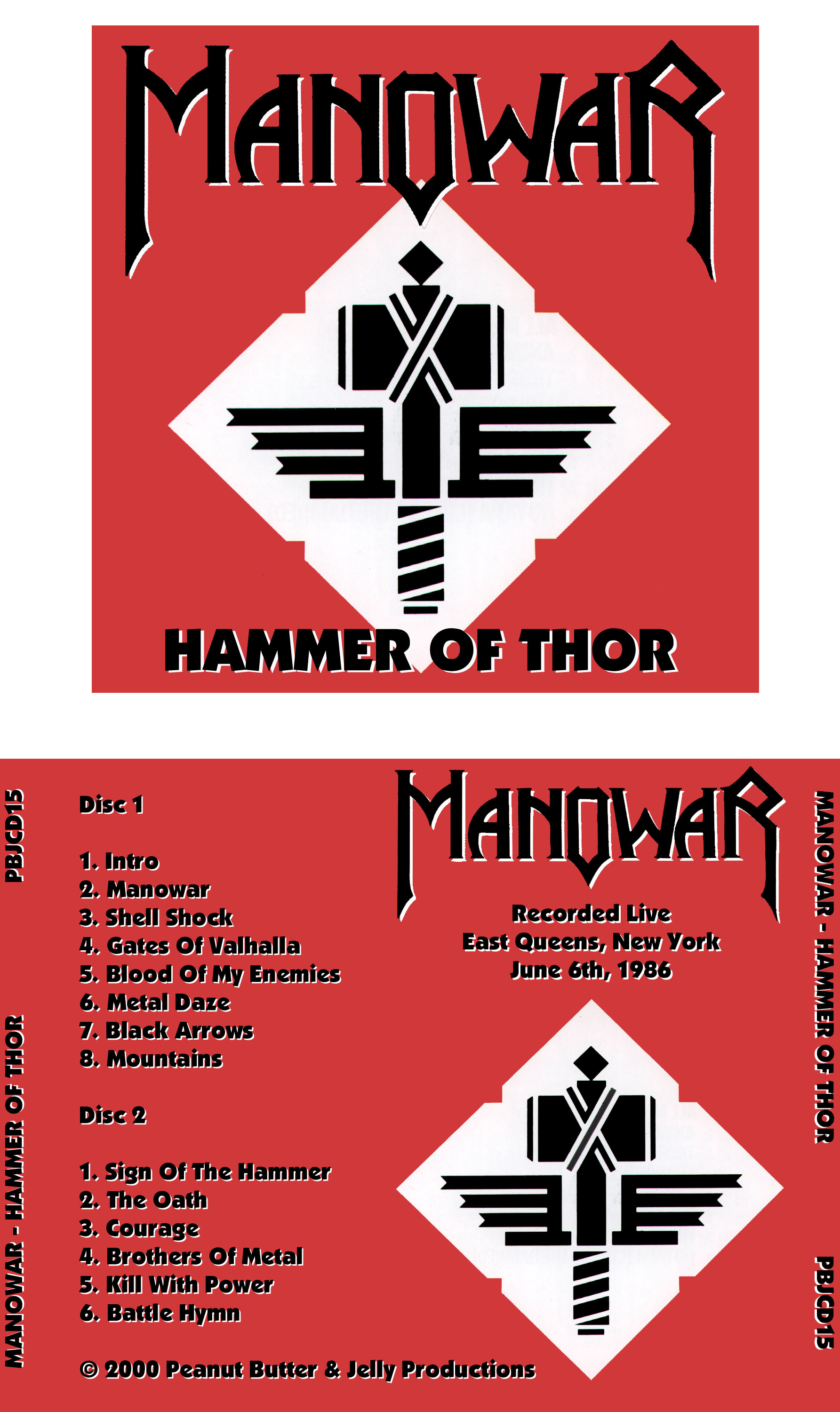 maniac paul s bootlegs manowar hammer of thor east queens ny